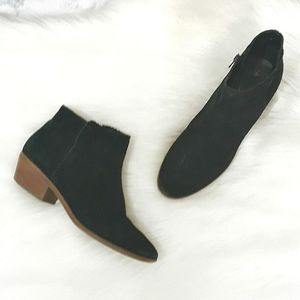 Jack Rogers Black Leather Ankle Boots